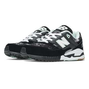 New Balance 530 Summer Utility, Black with White & Seafoam