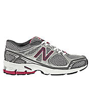 New Balance 570, Silver with Raspberry & White