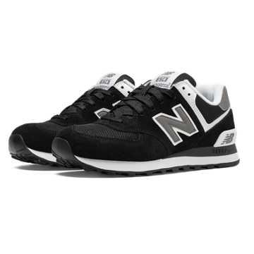 New Balance 574 New Balance, Black with White