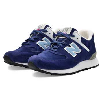 New Balance 576 Made in UK, Navy with White & Blue Atoll