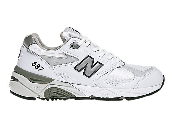 New Balance 587, White with Grey