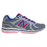 New Balance 590v2, Silver with Royal Blue & Diva Pink