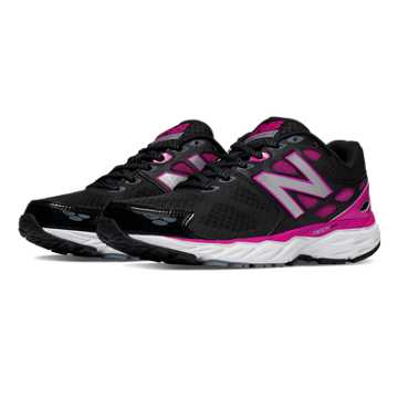 New Balance New Balance 680v3, Black with Azalea
