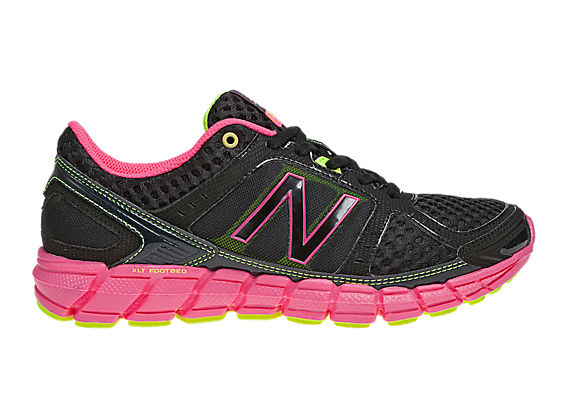 New Balance 750, Black with Pink