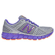 New Balance 750, Silver with Purple & Orange
