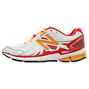 New Balance 780v2, White with Red & Orange
