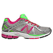 New Balance 780v3, Silver with Pink & Lime Punch
