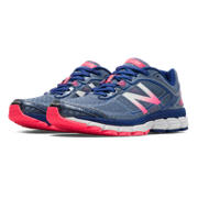 New Balance 860v5, Blue Fin with Bubble Gum Pink