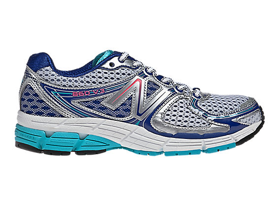 New Balance 860v3, Silver with Turquoise