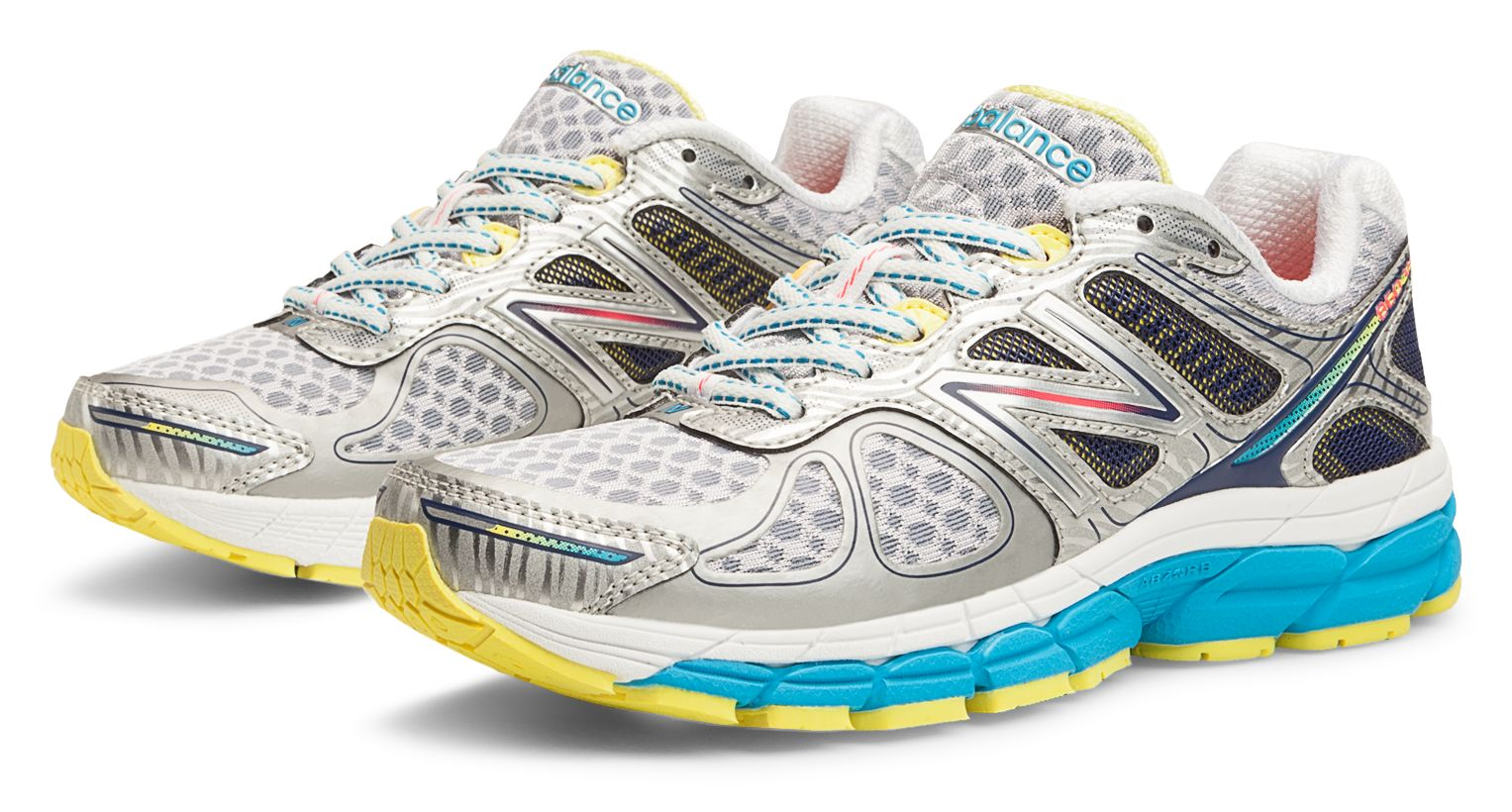 New Balance Womens 860v 4 Stability Running Shoes White