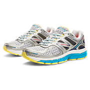 New Balance 860v4, White with Blue Atoll & Silver