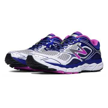 New Balance New Balance 860v6, White with Purple Cactus Flower & Black