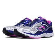 New Balance 860v6, White with Purple Cactus Flower & Black
