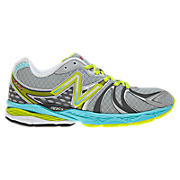 New Balance 870v2, Silver with Blue Atoll & Neon Green