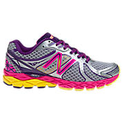 New Balance 870v3, Silver with Diva Pink & Purple