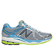 New Balance 880v2, White with Blue Bell & Neon Green