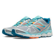 New Balance 880v4, Silver with Blue Atoll & Coral