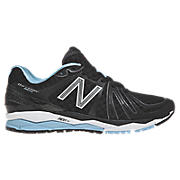 New Balance 890v2, Black with Sky Blue & White