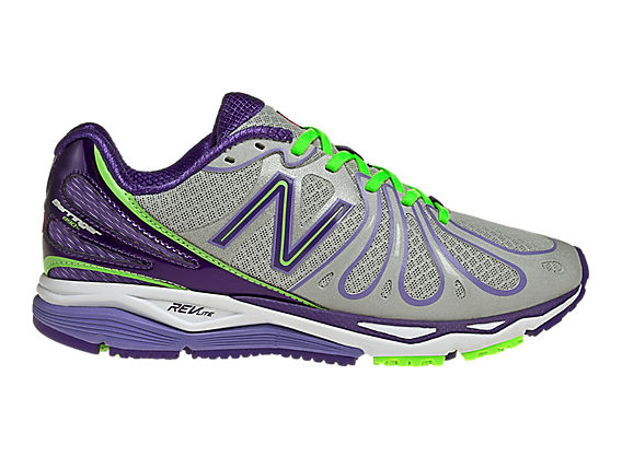New Balance 890v3, Silver with Purple & Fluorescent Green