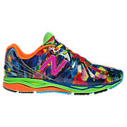 Womens Tie Dye 890V3, Blue with Yellow & Red