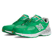 Womens Limited Edition Boston 990v3, Green with White & Silver
