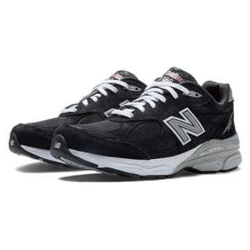 New Balance New Balance 990v3, Black with Grey & White