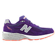 Womens Limited Edition Boston 990v3, Purple with Orange