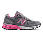 New Balance 990v4, Grey with Pink