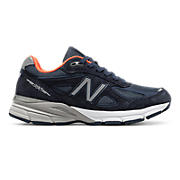 New Balance 990v4, Navy with Silver