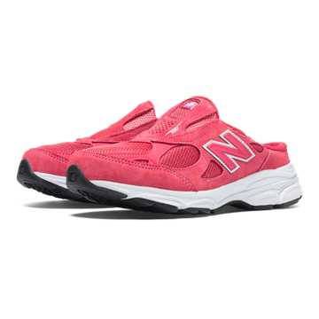 New Balance New Balance 990v3, Watermelon with White