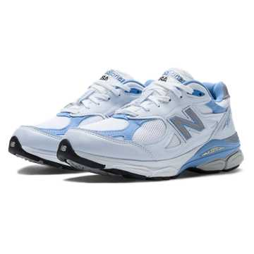 New Balance New Balance 990v3, White with Blithe & Grey