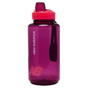New Balance Helium 1L Bottle, Bright Cherry with Jewel