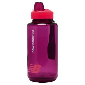 New Balance Helium 1L Bottle, Bright Cherry with Jewel