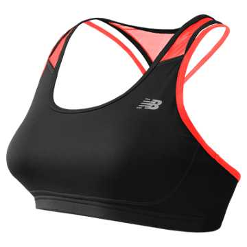 New Balance The Tonic Crop Bra, Black Multi