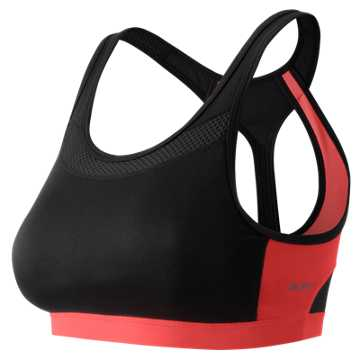 New Balance The Metro Run Crop Bra, Black Multi
