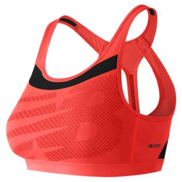 New Balance The Metro Run Crop Bra, Dragonfly