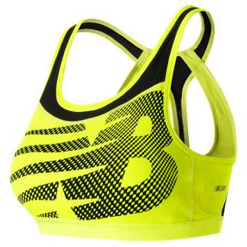 New Balance NB Pulse Bra, Firefly with Black