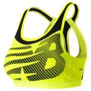 New Balance The Metro Run Crop Bra, Firefly with Black