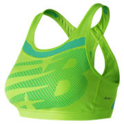 New Balance NB Pulse Bra, Lime Glo with Vivid Jade