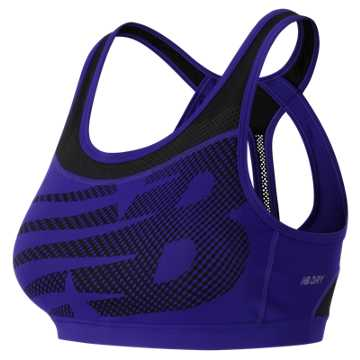 New Balance The Metro Run Crop Bra, Spectral with Black