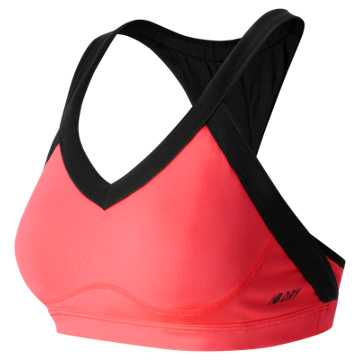 New Balance The Go Glam Bra, Guava with Black