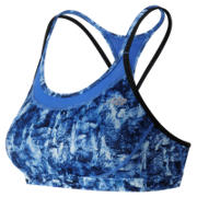 NB Majestic Feather Camo Tonic Crop Bra, Droplet with Bluefin & Black