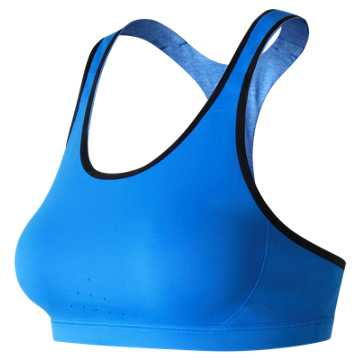 New Balance NB Trinamic Bra, Electric Blue with Black & Electric Blue Heather