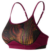 New Balance The Print Tenderly Obsessive Bra, Digital Moire with Deep Jewel