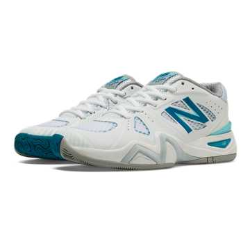 New Balance New Balance 1296, White with Blue & Blue Atoll