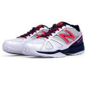 New Balance 496, Navy with Pink & White
