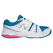 New Balance 656, White with Blue Atoll & Diva Pink