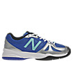 New Balance 696, Silver with Blue