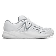 Women's 696v3, White with Silver