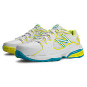 New Balance 786, White with Yellow & Teal